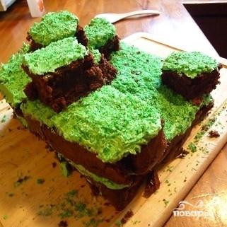 Торт Minecraft - фото шаг 10
