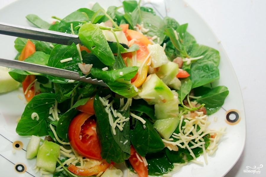 Салат со шпинатом и сыром - фото шаг 6