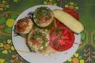 Фаршированные кабачки, запечённые в духовке