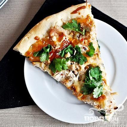 Тайская пицца с курицей - фото шаг 7