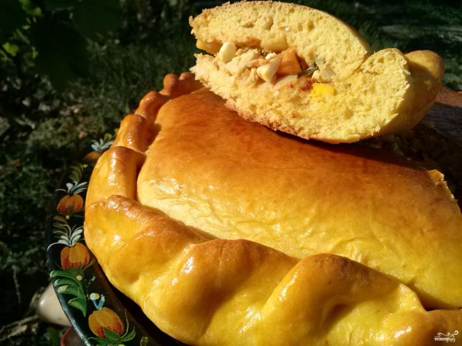 Тыквенный пирог с курицей - фото шаг 17
