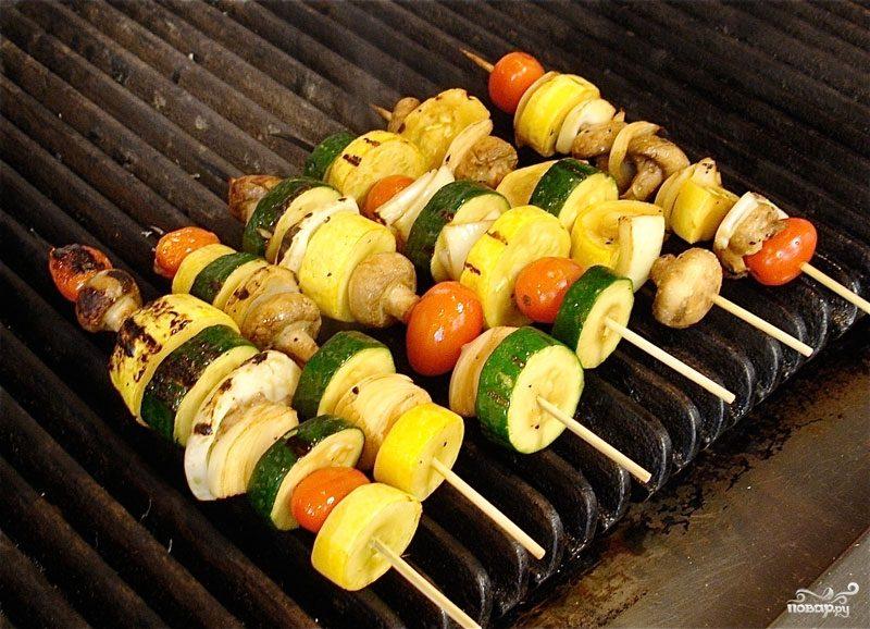 Рецепт Канапе из овощей гриль