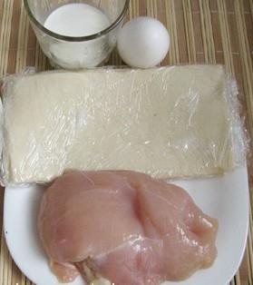 Волованы с курицей - фото шаг 1