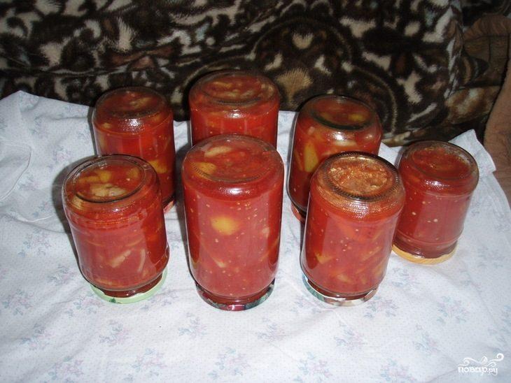 Лечо из помидор и перца простой