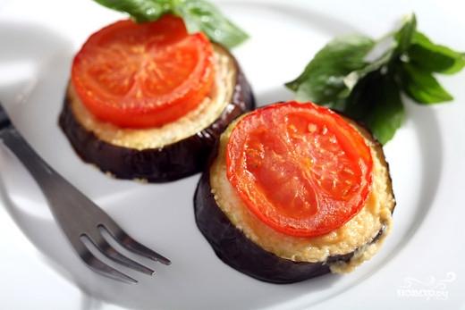 Рецепт Баклажаны с чесноком и помидорами