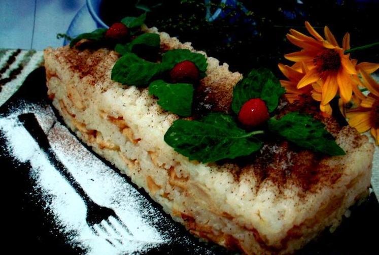 Рисовая запеканка с яблоками - фото шаг 8