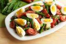 Салат Сытный с картофелем, яйцом и помидорами