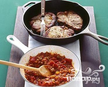 Рецепт Свиные отбивные с чатни из помидоров