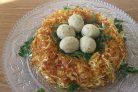 Гнездо глухаря (салат классический)
