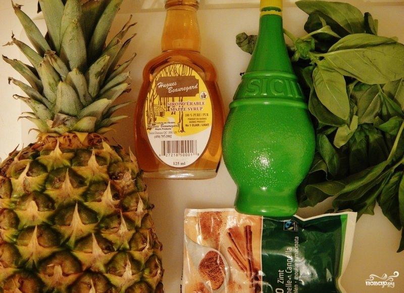 Рецепт Десерт из свежего ананаса