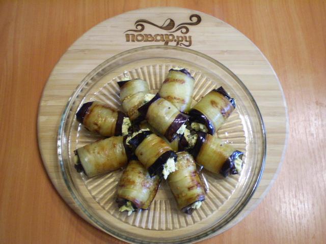 Жареные баклажаны с начинкой - фото шаг 10
