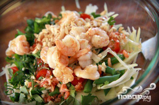 Тайский салат из папайи и креветок - фото шаг 7