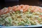 Салат с креветками и салатом Айсберг