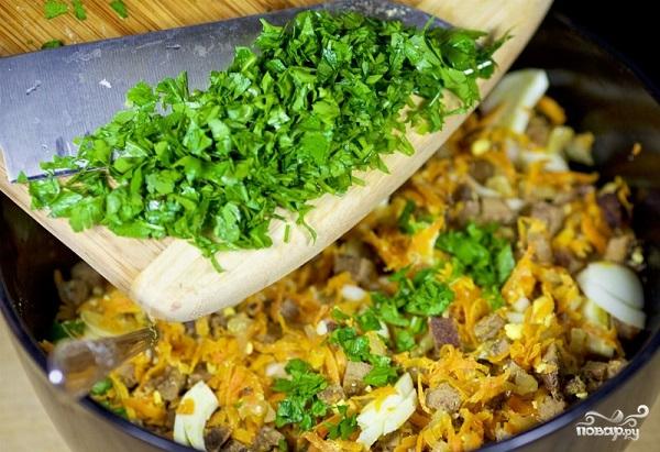 Салат печёночный - фото шаг 9