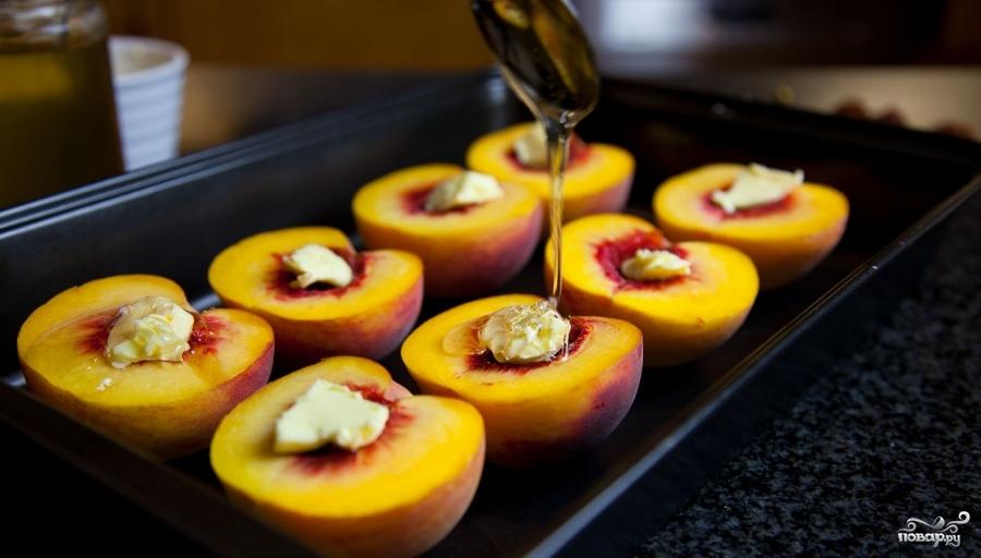 рецепт с персиками в духовке