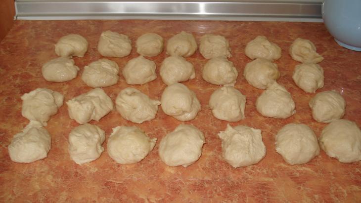 Пирожки с горохом в духовке - фото шаг 5