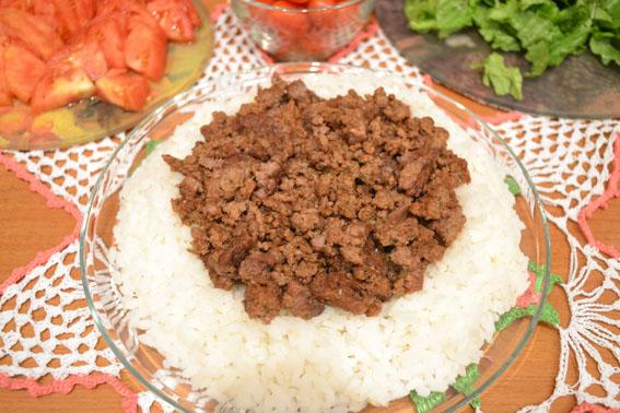 Рис с фаршем на сковороде - фото шаг 5