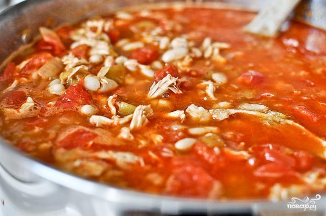 Жаркое из курицы, фасоли и овощей - фото шаг 5