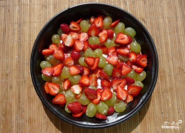 Открытый торт с фруктами - фото шаг 3