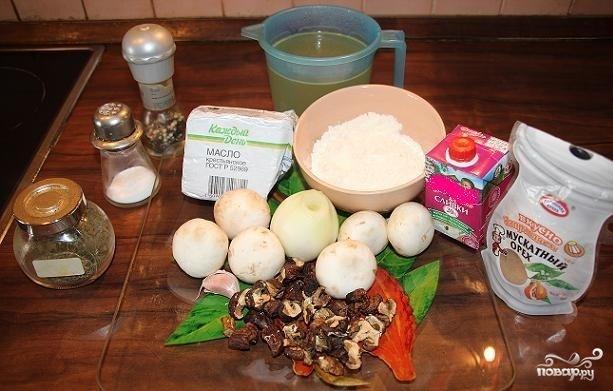 Рецепт Крем-суп из белых грибов