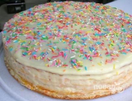 Торт на йогурте - фото шаг 10