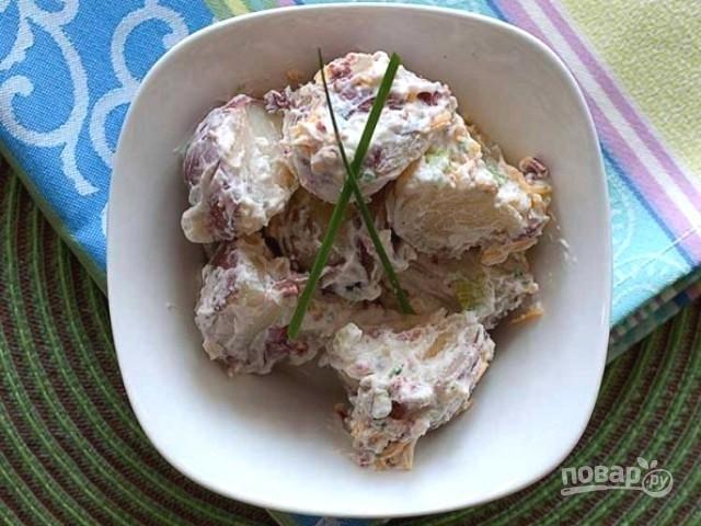 Картофельный салат с сыром