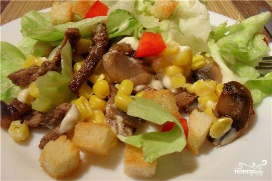Рецепт Вкусный салат с опятами
