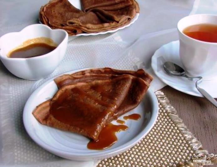 Блинчики с какао