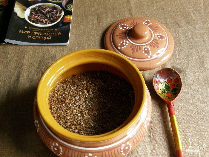 Рецепт Гречка в горшочке в духовке