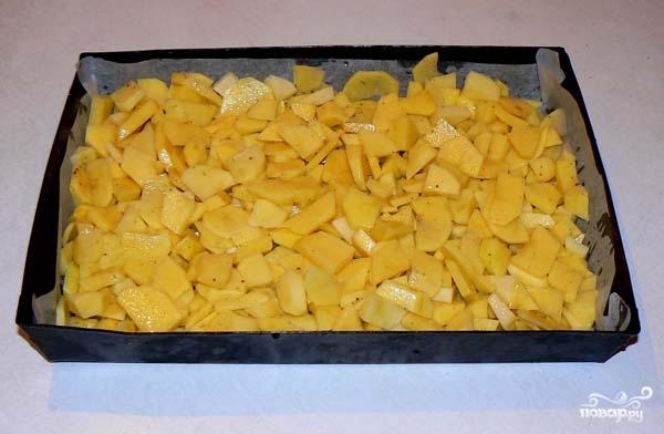 Рецепт Картофель с мясом и грибами