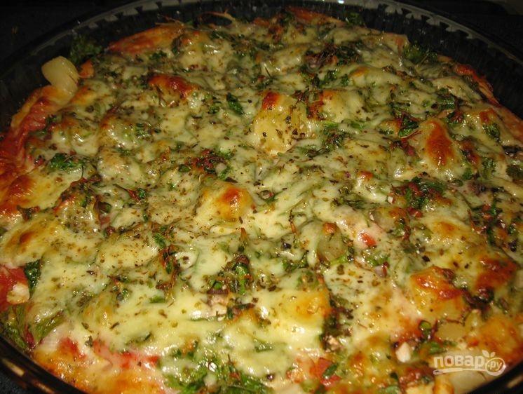 Свинина с помидорами и сыром в духовке — рецепт с фото ...