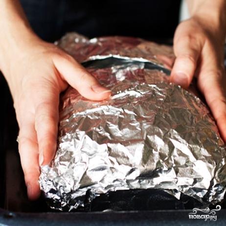 Слоеный сырный пирог с куриным фаршем - фото шаг 10