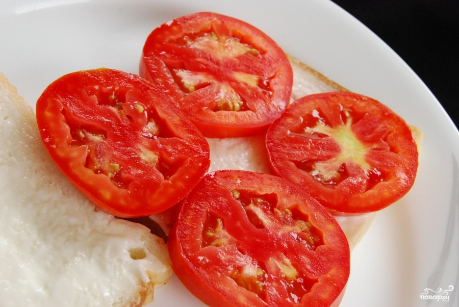 Бутерброд с помидорами - фото шаг 3