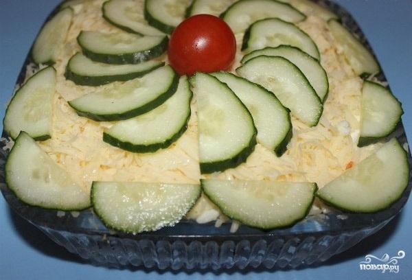 Салат с копченой грудкой - фото шаг 6
