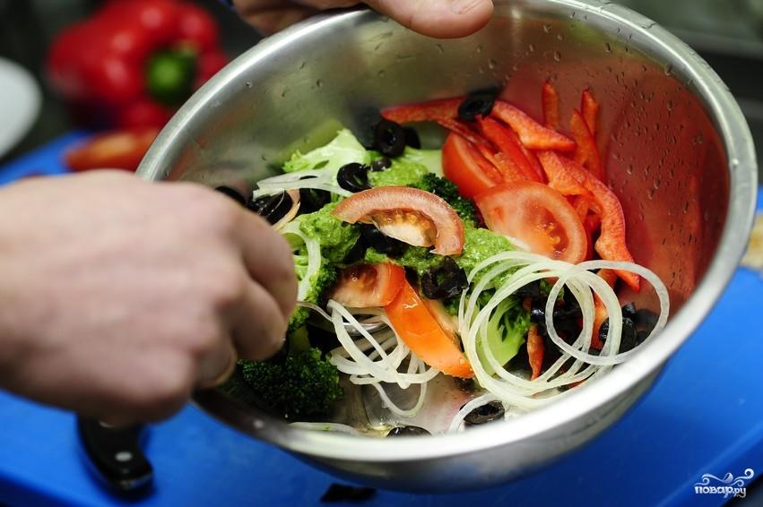 Салат из капусты брокколи - фото шаг 10