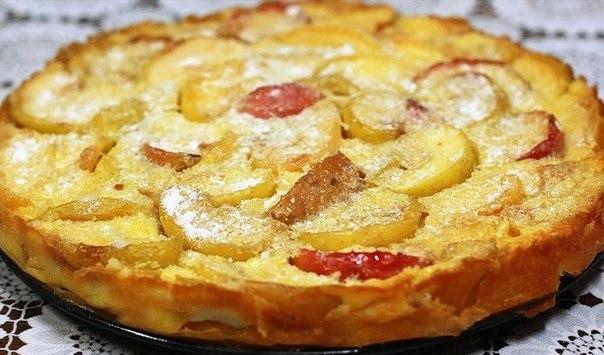 Омлет с яблоками - фото шаг 6