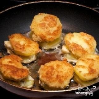 Картофель и сыр с плесенью - фото шаг 3