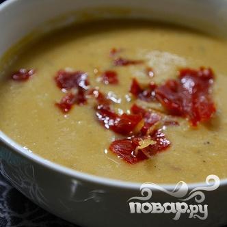 Суп-пюре с фасолью и ветчиной - фото шаг 7