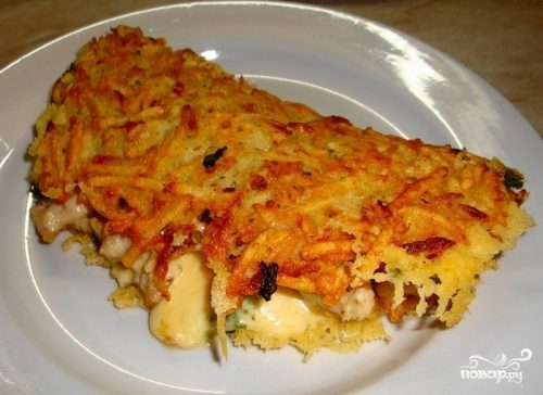 Куриная грудка, запеченная с картофелем