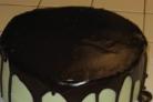 Мятный крем с шоколадной глазурью