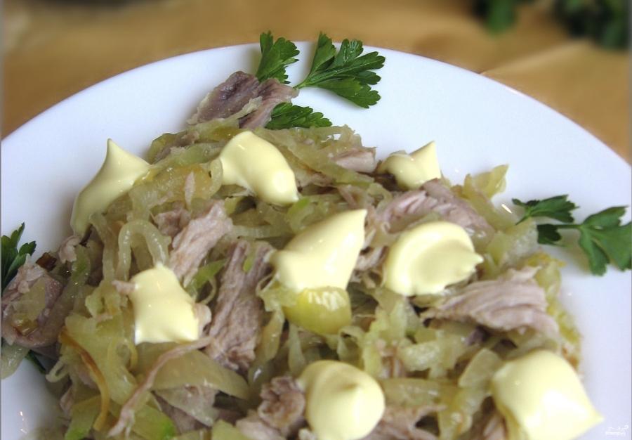 Салат из редьки с мясом - фото шаг 4