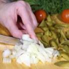 Рецепт Макаронный салат с копченой рыбой