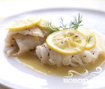 Рыба с лимонным соусом