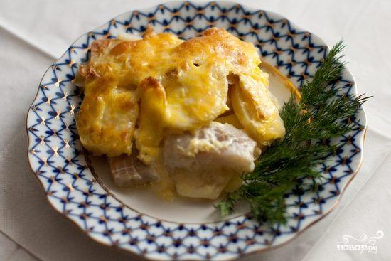 Рецепт Запеканка с картофелем и рыбой