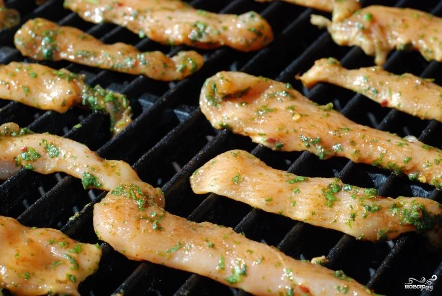 Закуска из курицы и свежих овощей - фото шаг 11