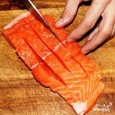 Филе лосося с оливками на пару - фото шаг 6