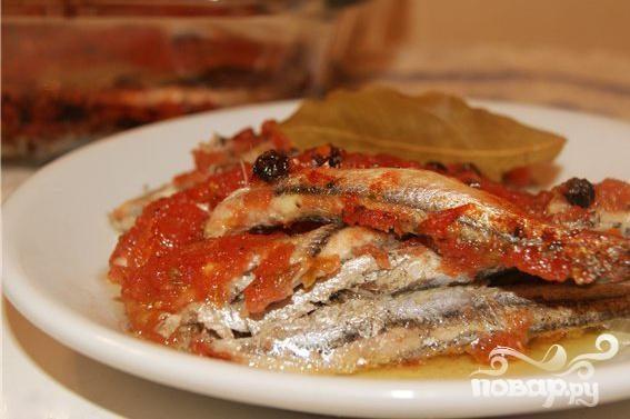 Рецепт Анчоусы с чесночным соусом