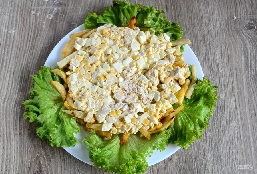 Салат петушок рецепт с картошкой фри