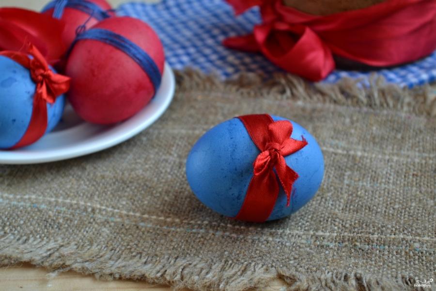 Красивые пасхальные яйца - фото шаг 6