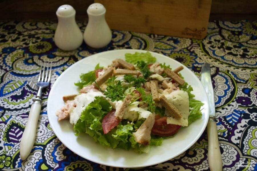 рецепт салата с черносливом грибами курицей